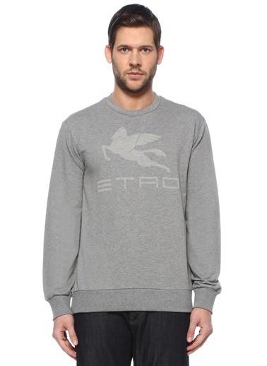 Etro Etro  Logo Baskılı Sweatshirt 101617921 Gri